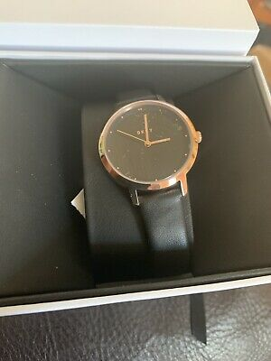 DKNY Brown And Gold Leather Ladies Watch