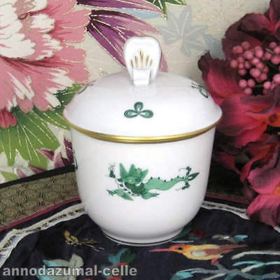 Sugar Bowl Porcelain Meissen Green Dragon