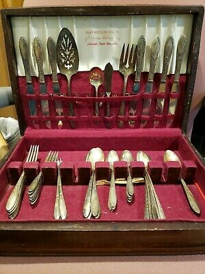 59 Piece Set Wm A Rogers Sectional Country Lane Oneida Silverplate Forks Spoons