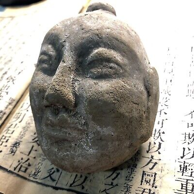 Ancient Chinese Han Dynasty  Statue's head BURIAL ARTIFACT  2200 years old