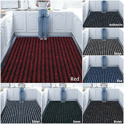 Door Multi Hall Kitchen Non Slip Rubber Barrier Mat Heavy Duty Large Small Rugs