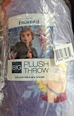 """THE BIG ONE Disney/'s FROZEN II Character Supersoft Plush Blanket Throw 60 x 72/"""""""