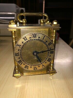 SMITHS WORKING BRASS CARRIAGE CLOCK MECHANICAL   c1950's