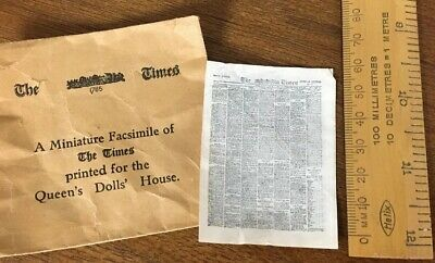 Very Rare Miniature Copy Of The Times Newspaper From 1924. Printed For The Queen