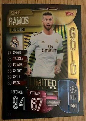 Topps Match Attax 19/20 Champions League - SERGIO RAMOS - GOLD LIMITED EDITION