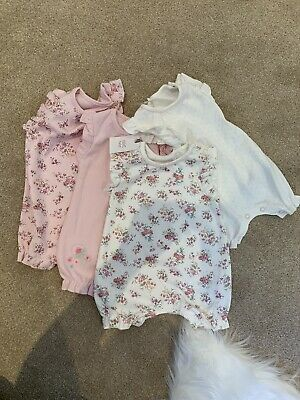 Next Pack Of 4 Floral Romper Suits Newborn BNWT