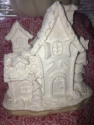 Paintable Ceramic House Christmas Holiday -Flaw