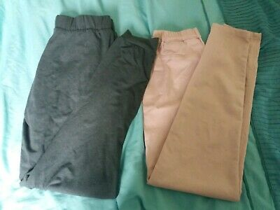 2 pairs of girls trousers 12-13 Years hardly worn!