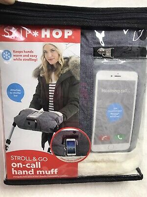 New Skip Hop Stroll & Go On Call Stroller Hand Muff In Heather Gray