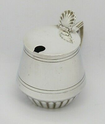 Elegant Rare Victorian Mappin Brothers Solid Sterling Silver Mustard Pot Hm 1896