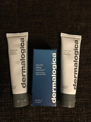 Dermalogica Sound sleep Cocoon , 2 X Charcoal Rescue Masks New And Genuine