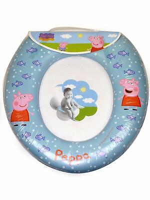 Soft Padded Peppa Pig Kids Potty Toilet Training Seat WC Child Toddler 1 Step wc