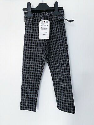 BNWT Zara Girls Checkered Trousers Age 5 Rrp £14.99