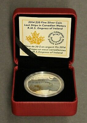 Royal Canadian Mint 2014 $20 Fine Silver Coin - R.m.s. Empress Of Ireland