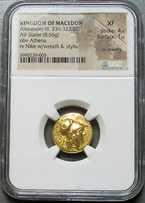336-323 Bc Gold Macedon Stater Alexander Iii Ngc Extremely Fine 4/1