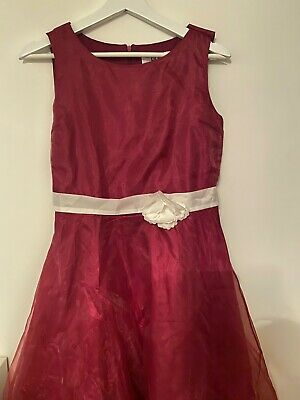 girls teenagers party dress raspberry pink colour, worn once. Size 170 (15 y.o.)