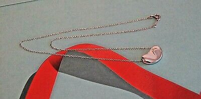Authentic Tiffany & Co Sterling 925 Silver Elsa Peretti 19.4 mm Bean Necklace