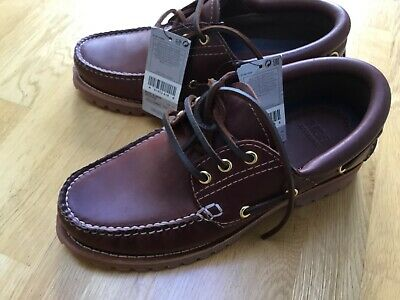 Mens Marks & Spencer brown leather boat shoes UK 6  Eur 39.5 BNWT tags classic