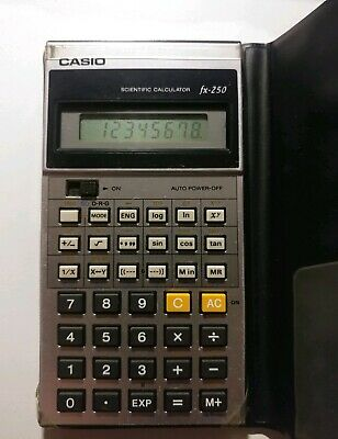 Vintage Casio Computer Scientific Calculator fx-250 Made In Japan w/Case Genuine