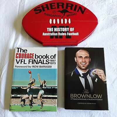 3 AFL FOOTBALL BOOKS Bulk lot