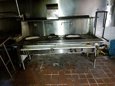 USED Commercial 3 Hole Wok Range Chinese Cuisine Restaurant from WIN DEPOT