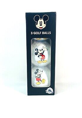 Disney Parks Exclusive Mickey Mouse 3 Pack Golf Balls Case New