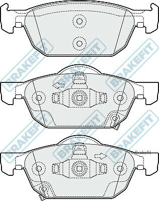 Brake Pads Set PD3255 Brakefit Genuine Top Quality Replacement New