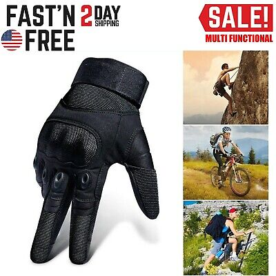 Military Combat Tactical Hard Knuckle Full Finger Gloves Hunting Shooting Gloves