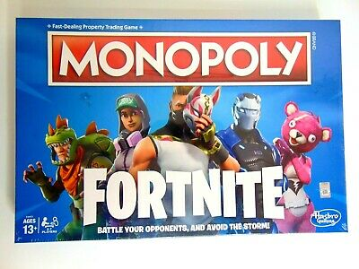 NEW! Monopoly FortNite Special Edition Kids Family Fun Board Game Factory Sealed