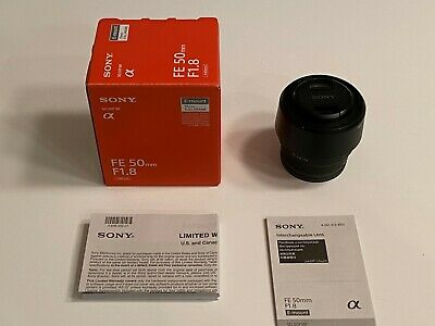 Sony SEL 50mm f/1.8 FE Lens - Black (SEL50F18F) Excellent condition, limited use