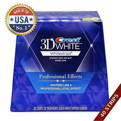 1 Box Crest3D White Luxe Professional Blanchiment Dentaires 20 sachets/40 bandes