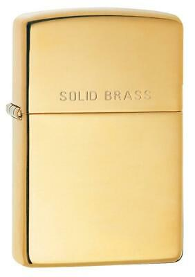 "Zippo Windproof High Polished Brass Lighter, 254, Says ""Solid Brass"", New In Box"