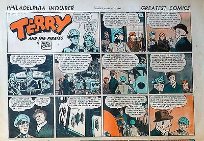 Terry and the Pirates by Caniff - half-page color Sunday comic - March 30, 1941