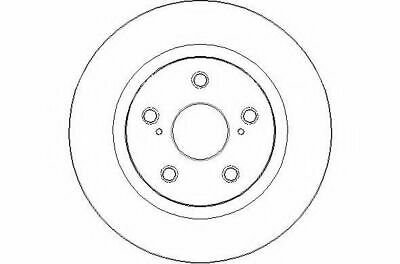 Pair 2x Brake Discs Vented fits TOYOTA AVENSIS ADT270 2.0D Front 08 to 15 Set