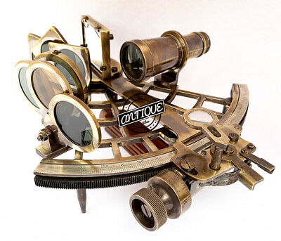 Antique Cafe/Boat Astro Sextant Nautical Navigation Maritime Gift For Friends Ne