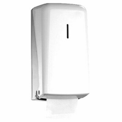 Wall Mounted Dual Twin Stacking Toilet Roll Holder Dispenser White P-639#