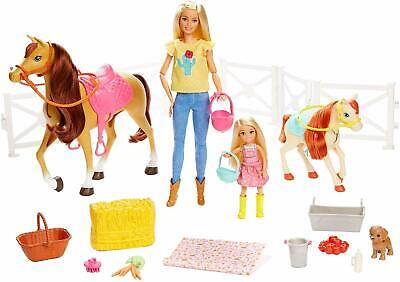 Dolls Horses And Accessories Horse Lovers Will Wild Blonde Barbie New.....