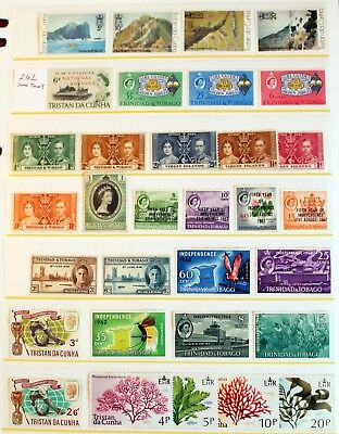 British Commonwealth – TEN Sets Mainly Tristan & Trinidad – All Mint (R5-242)