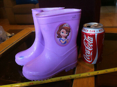 Disney Sofia The First Wellies Welly Boots New Shop Soiled Child Size 7 RRP £20