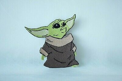 The child Meme Star Wars Inspired, Gift Idea Embroidered Yoda iron on Patch