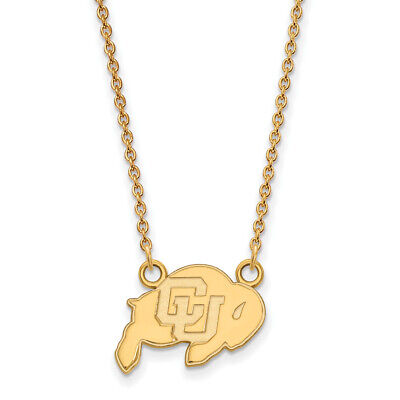 SS025UCO Sterling Silver University of Colorado Small Pendant by LogoArt