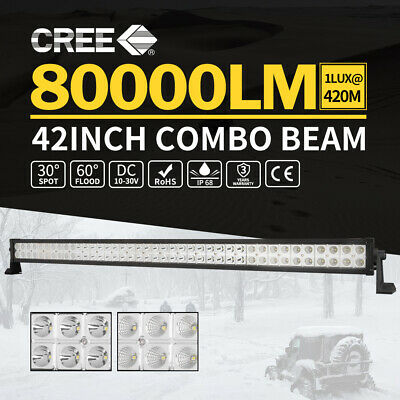 "LightFox 42""inch Cree LED Light Bar Spot Flood Driving Lamp Offroad 4WD Truck"