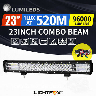 "LightFox 23inch Philips LED Light Bar Spot Flood Driving Offroad Lamp 20/23"" 4WD"