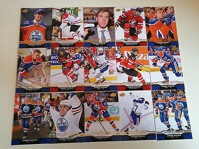2015-16 Upper Deck Connor McDavid Collection complete set of 25 cards