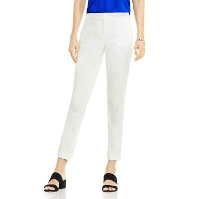 Vince Camuto Womens Ivory Straight Leg Crop Ankle Pants Trousers 6 BHFO 6430