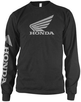 Honda Collection Wing Logo Long Sleeve T-Shirt Black 2X-Large