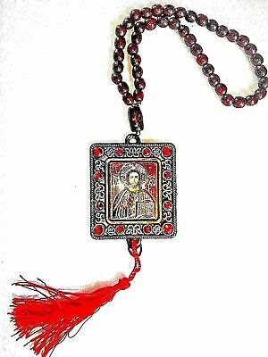 Russian Orthodox Icon Jesus Christ And St Nicholas For Protection Car Amulet