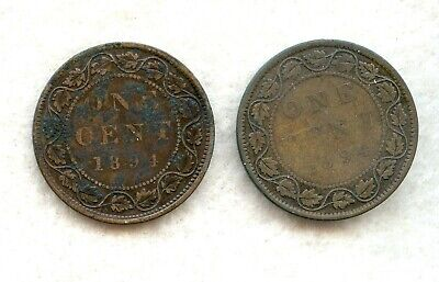 Canada  ~ 1894 ~ Large Cent Lot ~ Vg ~ 2 Coins