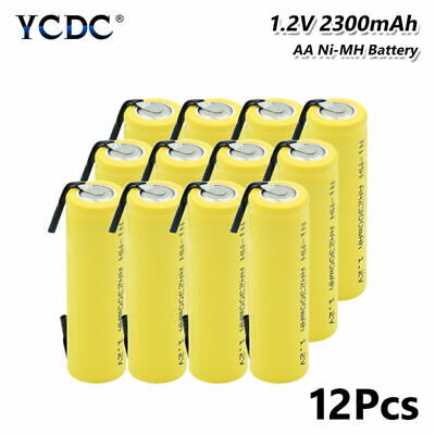 12Pcs Ni-MH AA Battery 1.2V 2300mAh Rechargeable Batteries For Toy Flashlight 5