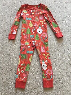 Next Christmas All In One Pyjamas - Size 5 Years